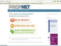 """Strona projektu """"Profnet. Wsparcie organizacji pozarządowych realizujących profilaktykę uzależnień"""""""