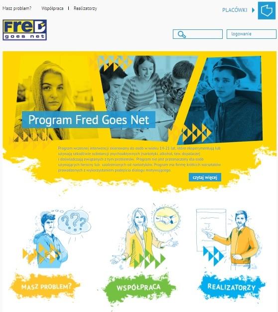 Oficjalna strona Programu wczesnej interwencji profilaktycznej FreD goes net